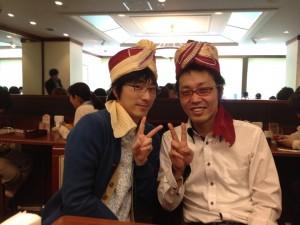 リュウ坂口さんとターバン